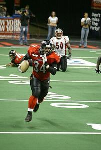Hi my name is CHRIS AVERY. I have been playing arena football for 7 years. In those 7 years, from 2001-2006, I was one of the top rate fullback/linebackers in the league. In 2007 I tore my acl and missed the season. I had surgery. During surgery I lost my explosion and quickness. I started rehab. Afterwards in rehab I used the Power Pull machine to get my explosion, strength and fast twick muscles back. Thanks to the Power Pull machine I am back playing football for the 2008 season. CHRIS AVERY#34